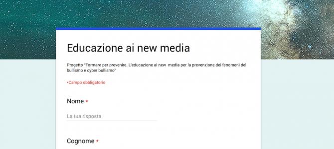 Avvio formazione new media