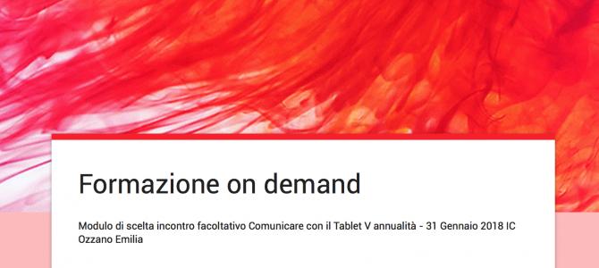 Comunicare con il tablet. Formazione on demand