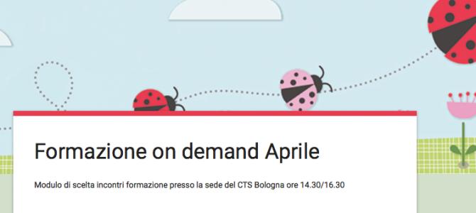 CTS Bologna Formazione on demand Aprile 2018
