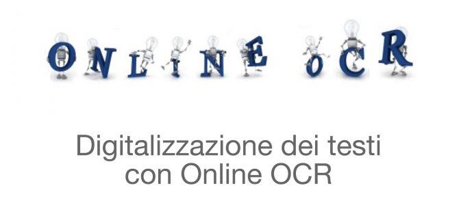 I tutorial del CTS di Bologna. 3. Digitalizzare un testo con Online OCR